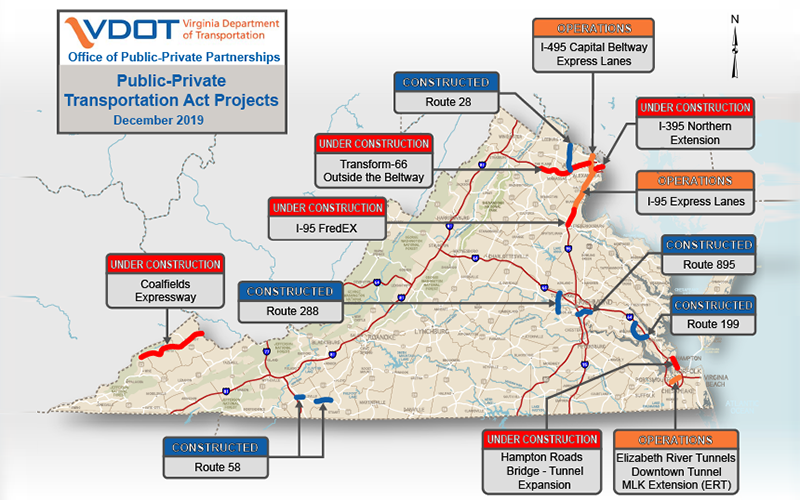 Map of P3 Projects